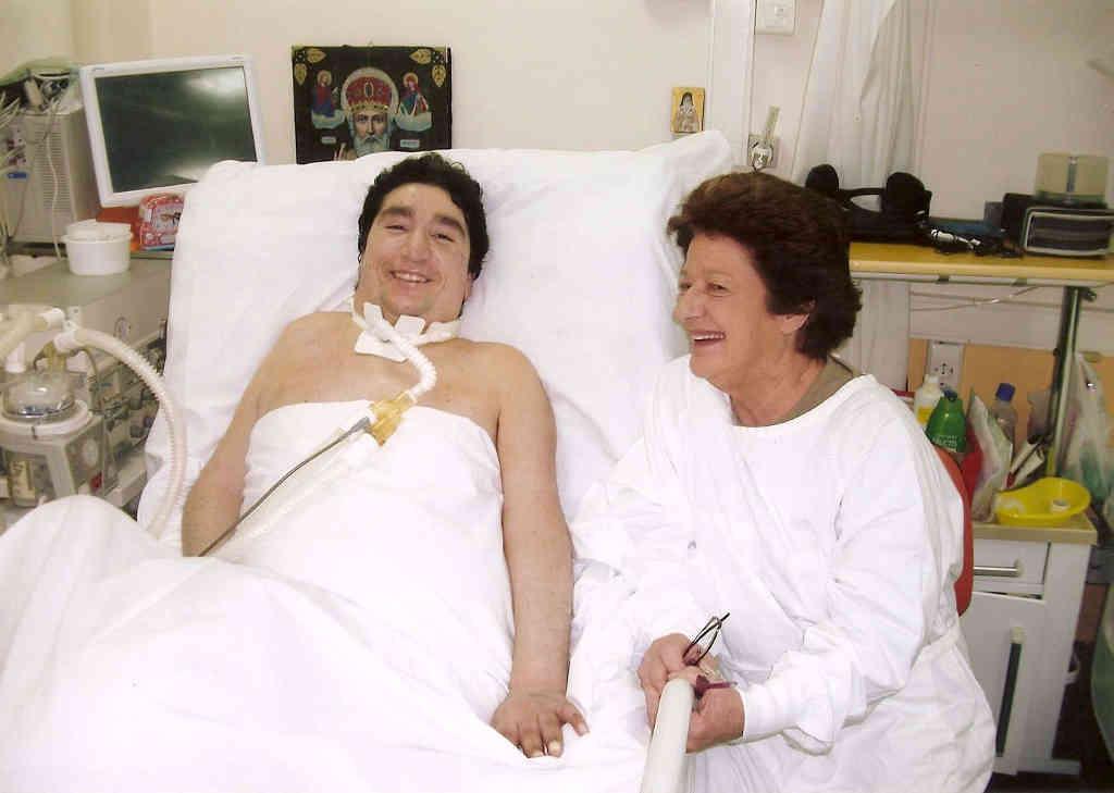 Η Εύη Γεωργιάδη με τον Νεκτάριο μας στο Νοσοκομείο Παίδων Πεντέλης